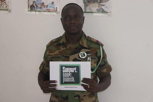 Ltd Col. Fiafor giving his support