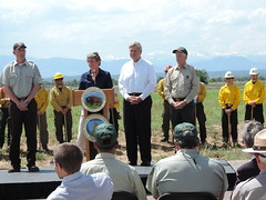 Interior and Agriculture Secretaries Announcement at the Rocky Mountain Arsenal NWR (USFWS Mountain Prairie) Tags: nature fire wildlife conservation secretary agriculture usfws refuge wildfire fws usfishandwildlifeservice secretaryoftheinterior region6 usdepartmentoftheinterior rockymountainarsenalnationalwildliferefuge firemanagement usfishwildlifeservice rockymountainarsenalnationalwildliferefugefishingfrenzyusfws secretaryjewell
