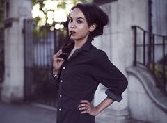 Midsummer (andre adams) Tags: uk summer portrait woman sun london girl beauty sunglasses hair unitedkingdom