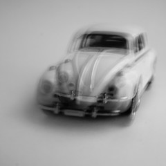 Seeing Dubble (Ben Wightman) Tags: bw car vw volkswagen toy beetle seeingdouble veedub macromondays