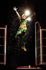 Jenn Colella as Peter Pan in Peter Pan, produced by Music Circus at the Wells Fargo Pavilion July 21-26, 2015. Photo by Kevin Graft.