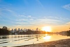 Sunset (Explore) (Vinicius_Ldna) Tags: sunset brazil sky lake sol azul canon landscape lago do paisagem céu explore 1855 por londrina igapo 7357 explored explorejul12015214