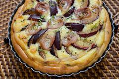 Smoked Plumcots, Bacon, and Brie Pie (lyudavitaya) Tags: cheese pie plum tart smoked becon