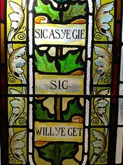 Sic as ye gie (Scots Language Centre) Tags: angus library stainedglass edzell proverbs scottishsayings scottishlanguage scotslanguage scotsleid