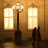 one night in Stuttgart (Wackelaugen) Tags: peoplestreet silhouettes lantern lamp street windows schlsplatz stuttgart germany canon eos photo photography wackelaugen square