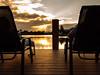 Sunset from the Dock (Garen M.) Tags: afterglow clouds deckchairs glow light manfrotto marcoisland ndfilter olympusomdem1 polarisingfilter sunlight sunset tripod view waterbay zuiko17mmf18 dock dusk longexposures