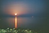 Moonrise. (CristinaDiaconu23) Tags: greece thassos moonrise water beach sunsetcolours travel nature summer analog minolta x300s 35mm kodakcolorplus film proudofmycamera imisssummer warmweather