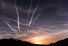 Abend Breiten (Bugtris) Tags: sunset canon landschaft chemtrails 600d