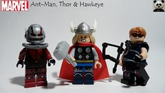 Ant-Man, Thor & Hawkeye (Random_Panda) Tags: lego figs fig figures figure minifigs minifig minifigures minifigure purist purists character characters marvel comics superhero superheroes hero heroes super comic book books films film movie movies tv show shows television civil war ant man antman thor hawkeye avengers