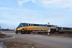 Flying Through (RailfanIain) Tags: via p42dc 903 73 dundas sub dorchester richmond street train signals