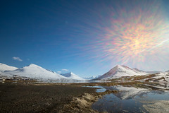 Your time will come (OR_U) Tags: 2017 oru iceland olafsfjordur landscape mountains snow ice blue sun sunflare eurythmics reflection hss sliderssunday le longexposure