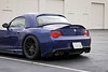 SkyerRear3 (violetnites) Tags: bmw z4m z4 m roadster e85 skyer trunk lip spoiler carbon vmr wheels interlagos blue