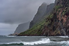 *Ponta Pequena @ Madeira* (albert.wirtz) Tags: albertwirtz portugal madeira paúldomar jardimdomar pontapequena southwestmadeira südwestmadeira wandern hiking prazeres lombodaracha ocean water wellen brandung rocks waterfalls wasserfall nebel dunst fog mist niebla nebbia rainy regnerisch clouds wolken whalers walfänger referta