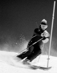 Monochrome Ski School Slalom (wordman760) Tags: minolta x370 kodak monochrome negative film tmy 3200asa skiing sugarpeak ski snow sport snoweagleskischool saintjovite slalom slr race racing outdoors blackandwhite csia daylight downhill downhillskiing extérieur grayrocks gate skipro skiinstructor laurentians laurentides monttremblant noiretblanc polarizer québec canada winter 35mm