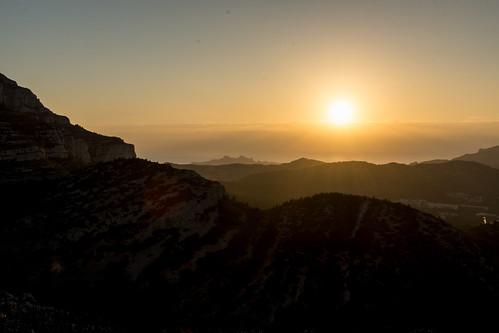 Coucher de soleil sur les Calanques