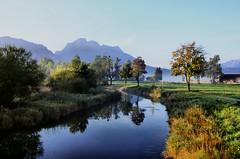 Morgenstund hat Gold im Mund (didibild) Tags: strase romantische morgenstund wasser schwangau allgäu bayern spiegelung