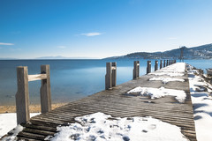 Journey (Marios Krokidis) Tags: snow sea seascapes volos greece wood travel blue ships