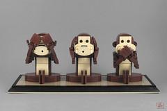 Three wise monkeys (J.B.F) Tags: jimmyfortel jbf 6kyubi6 lego moc threewisemonkeys monkey singe animal brickbuild