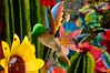 #79/100 - A Garden Ornament - 117 Pictures in 2017 (Krasivaya Liza) Tags: nogales mexico mexican border town souvenirs pottery 79 79100 agardenornament garden ornament birds flowers 117picturesin2017 colorful bold vibrant colors tourists tourism village international calle