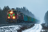 Freight train T53385 (ArtDvU) Tags: vr finnishrailways freight train t53385 diesel locomotive dv12 finland winter snowy canon eos 7d mkii