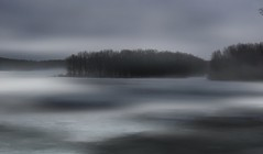 In a fog.... (Laura Rowan) Tags: fog morning mist river mississippiriver dubuqueiowa warm warmth coldwaterwarmair