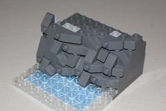 Simple SNOT and Studs Up Rockwork Tutorial (soccersnyderi) Tags: lego technique tutorial design method rockwork cliff rock