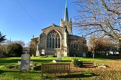 St Andrews Church (Julie A1) Tags: hornchurch green grass saint andrews church window grave yard blue sky canon g7x