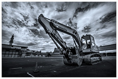 The Digger (djshanu) Tags: digger construction building buildingandconstruction engineering civil blackandwhite blackwhite landscape clouds canondslr