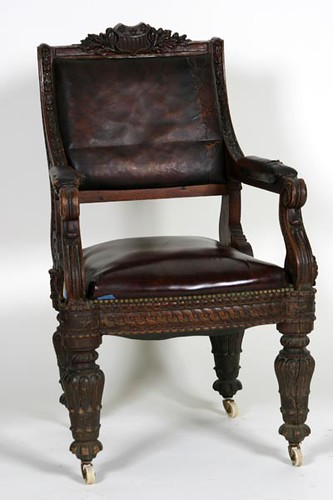 Horner Quality Heavily Carved Oak Library Table from U.S. House of Representatives ($5,040.00)