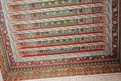 Saadian Tombs & Bahi Palace, Marrakech (louisacrompton) Tags: wood roof colour architecture design paint interiors doors pattern palace morocco tiles marrakech marrakesh tombs repeat intricate bahi saadian