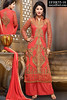 Akshara Ruby Red Embroidered Suit