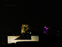 Turin Center Roofs (alessiochiolo) Tags: city houses light summer sky italy black tower art architecture night dark torino lights photo high italian cityscape play view place bell no flash royal like center palace panoramic roofs exposition historical turin elegance shodows violer