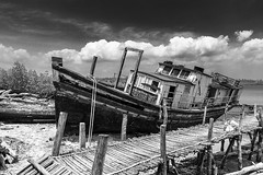 (AshwinRajuAdimari) Tags: travel sky blackandwhite india abandoned tourism clouds island islands ross dock nikon ship smith tourist nikkor cloudysky andaman nicobar d600 2470 indiavacation indiatourism incredibleindia