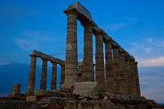 Temple of Poseidon (Panos kanderes) Tags: blue sky architecture canon temple magic columns athens greece hour marble poseidon sounio 2470mmf28ii