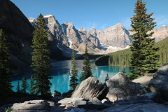 Moraine Lake Alberta Canada (davebloggs007) Tags: lake canada mountains rockies day 10 4th july alberta peaks independence moraine 2015
