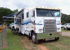 Custom Marmon motorhome (Thumpr455) Tags: white rural truck fuji northcarolina fourthofjuly fujifilm custom motorhome denton coe 2015 cabover marmon xe2 southeastoldthreshersreunion