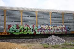 Scum/Combo (quiet-silence) Tags: railroad art train graffiti railcar scum graff rts freight combo combos autorack bhg fr8