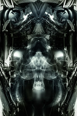 Machine Demon (Tau Zero) Tags: engine demon motor biomechanical giger baphomet biomechanic digitalmirror