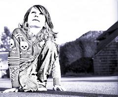 Boy Kneeling (graeme.hyslop) Tags: blue boy photoart photomanipulated