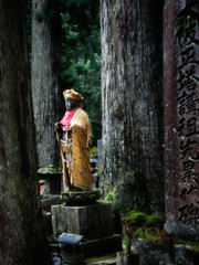 Okunoin Cemetery, Koya-san, Japan (Tigra K) Tags: 2012 japan cemeteryortomb color dress monument sculpture statue tree itogun wakayamaken jp typeface
