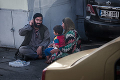 Familiy selling tissues for living (adambotond) Tags: people canon turkey europe homeless istanbul turkish turk turkishpeople homelesspeople poorpeople canonef70200f4isl canoneos6d