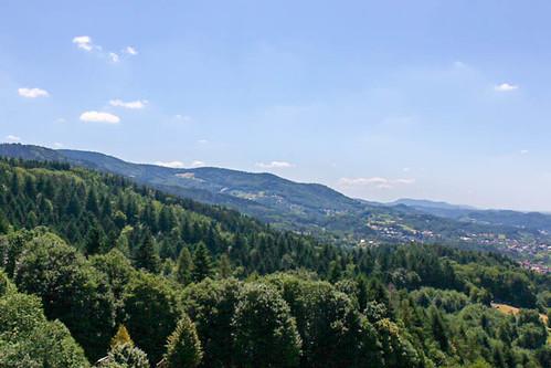 Vue depuis le sommet du château Alt-Windeck (alt. 378 m)