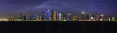 City of lights (IzTheViz) Tags: doha qatar cityscape lights buildings panorama