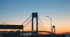 IMG_9777 (Richard Petrosino) Tags: bridge sunset pretty brooklyn newyork unitedstates arial orange blue new york jersey staten island verrazano verrazanobridge view ocean