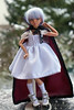 Little Red Riding Hood (Steffi♥Dollies) Tags: minifee chloe tan red riding hood white dress cape burgundy mnf bjd