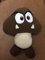Goomba (AngelaTiara) Tags: goomba evil mushroom plush angelatiara handmade mario snes nes nintendo geek geeky geekery plushie
