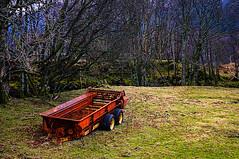 Abandoned Trailer (Brian Travelling) Tags: trossachs loch lubnaig voil water sky waterfall pentaxkr pentax scotland scenery landscape