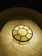Copying Nature (Steve Taylor (Photography)) Tags: art architecture digital design light brown monocolor monocolour monotone asia singapore city curve circle oval glow lines flower petals lift