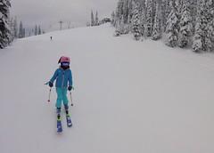 Good to be skiing Sun Peaks again (Ruth and Dave) Tags: catrin skier child sunpeaks skiresort piste skirun skiing bunny helmet ears winter