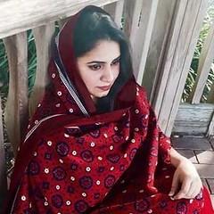 Sindhi girl in Ajrak (GlobalCitizen2011) Tags: ajrak sindhi sind sindh